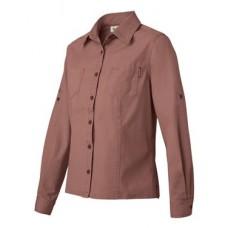 Sawtooth Collection Ladies' Mortar Long Sleeve Shirt