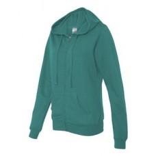 Juniors' Lightweight Full-Zip Hooded Sweatshirt