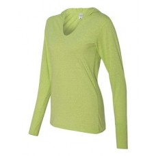 Ladies' Twisted Slub Jersey Hooded Pullover T-Shirt