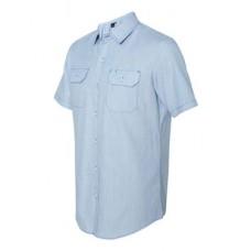 Dobby-Stripe Short Sleeve Shirt