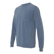Garment Dyed Heavyweight Ringspun Long Sleeve Pocket T-Shirt