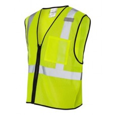 Class 2 Economy Vest with Zipper Front