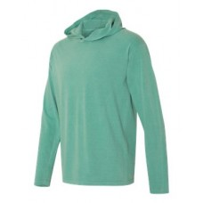 Garment Dyed Hooded Long Sleeve Tee