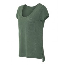 Women's Washed Slub Favorite Pocket T-Shirt