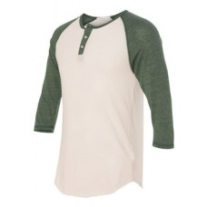 Eco-Jersey™ Three-Quarter Sleeve Raglan Henley