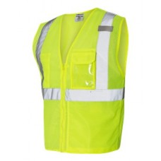 Clear ID Vest with Zipper Closure