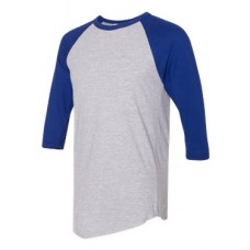 50/50 Poly/Cotton Raglan Three-Quarter Sleeve T-Shirt