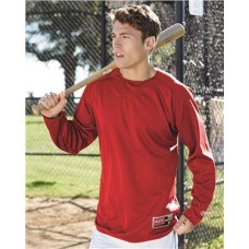 Long Sleeve Flatback Mesh Fleece Pullover