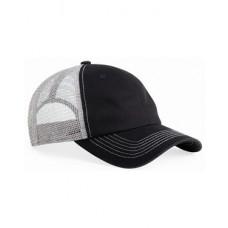 Contrast Stitch Mesh Cap