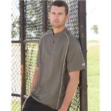 Short Sleeve Poly Dobby Quarter-Zip Pullover