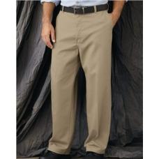 Plain Front Casual Cotton Pants