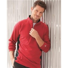 Colorblocked Performance Quarter-Zip Sweatshirt