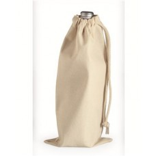 10 Ounce Cotton Canvas Drawstring Wine Bag