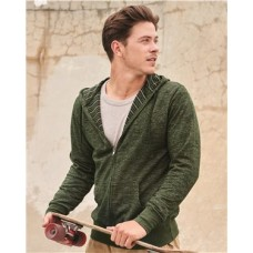 Baja Stripe French Terry Hooded Full-Zip Sweatshirt