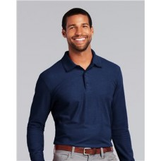 DryBlend® Double Pique Long Sleeve Sport Shirt
