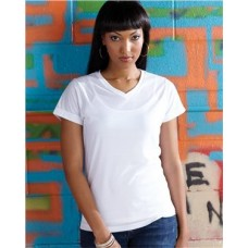 Women's V-Neck Polyester Sublimation Tee