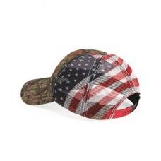 American Flag Mesh Back Camo Cap