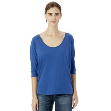 Boxy Cotton Modal Raglan T-Shirt