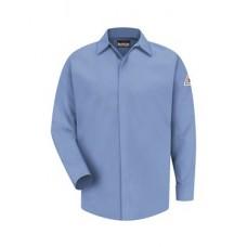 Concealed-Gripper Pocketless Work Shirt Long Sizes