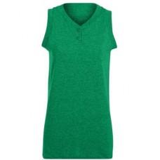 Girls' Sleeveless Two-Button Softball Jersey