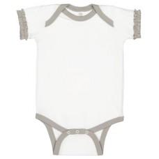Infant Ruffle Fine Jersey Bodysuit
