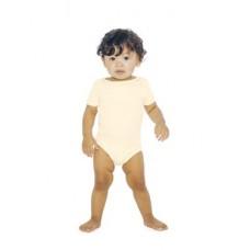 Infant Organic Baby Rib Short Sleeve One-Piece