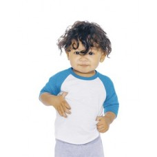 Infant Poly-Cotton 3/4 Sleeve Raglan T-Shirt