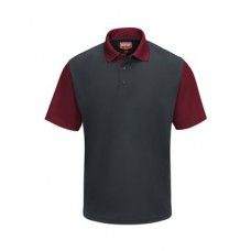 Short Sleeve Performance Knit Color-Block Polo
