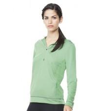Women's Long Sleeve Half-Zip Hooded Pullover