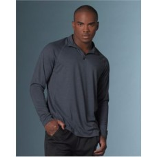 Heather Athletic Long Sleeve Quarter Zip